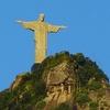 Corcovado Hill With Christ Statue In Rio De Janeiro