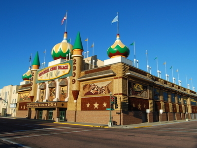 Street View Of The Corn Palace