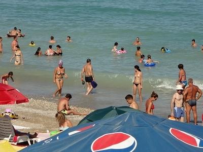 Costinesti Beach Crowd - Constanta Romania