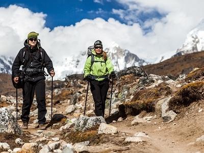 Couple Hiking The Himalayas