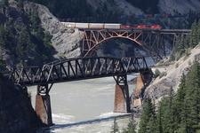 CPR Bridge (black) And CNR Bridge (orange Arch)