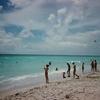 Crowd Enjoying At South Beach - Miami FL