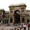 Crowds Outside Galleria Vittorio Emanuele II - Milano