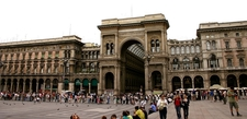Crowds Outside Galleria Vittorio Emanuele II - Milano