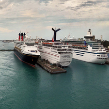 Cruise Ships In Nassau Harbour