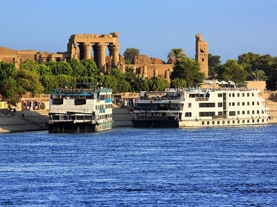 Cruising Nile At Aswan In Egypt