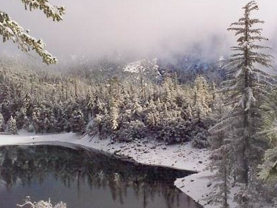 Crystal Lake In Winter