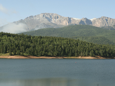Crystal Reservoir With Crystal Peak - Breckenridge CO