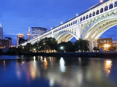 Cuyahoga River In Cleveland - Ohio