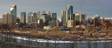 Bow River, Prince's Island Park And Downtown Calgary
