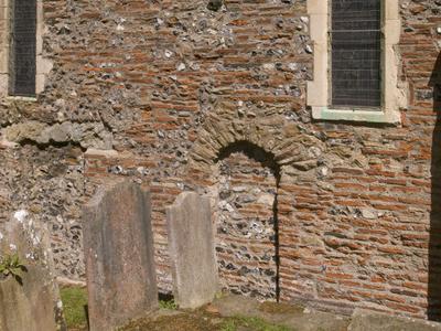 Canterbury  St  Martin Chancel Wall