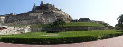 Panoramic Of The Castillo San Felipe De Barajas