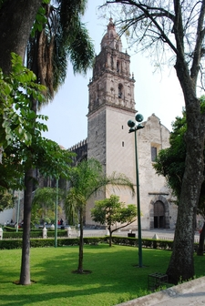 Facade And Belltower Of The Cathedral