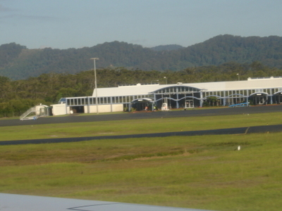 View Of The Airport Terminal From The Runway