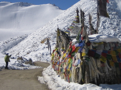 Chang La With Prayer Flags
