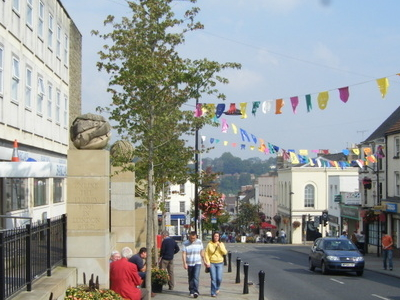 Chepstow High Street Showing Festival Bunting