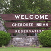 Cherokee Indian Reservation Sign