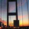 Westbound Span At Sunset