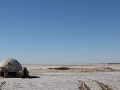 The Lars Homestead Set From Star Wars In Chott El Djerid