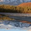 Chugach Mountains Reflected On Goose Lake