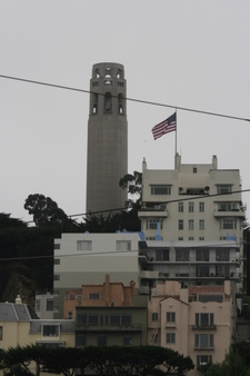 Coit Tower From A Below Street