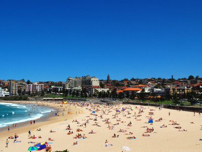 Coogee  Beach View From  Dolphin  Point