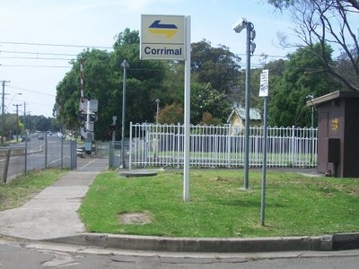 Corrimal Railway Station Entrance Sign
