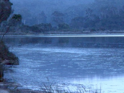 Lake Curaldo At Dusk
