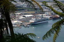 Cruise Ship In Port Of Tauranga