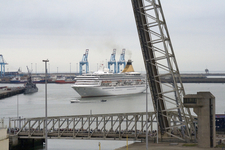 Cruise Ship Leaving The Port