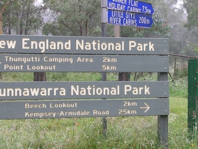 Cunnawarra National Park Entrance