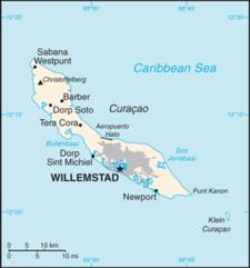 Curacao C I A W F B Map