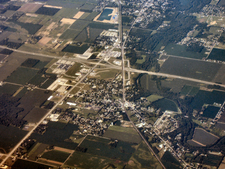 Daleville From Above Looking Southwest.