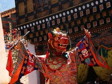Dance Of The Lord Of Death @ Paro In Bhutan