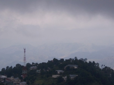Dark And Cloudy Murree Landscape