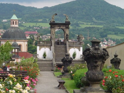 Castle And Rose Garden
