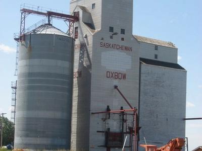 Decomissioned  Grain  Elevator     Oxbow Saskatchewan