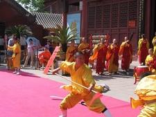 Demonstrating Kung Fu