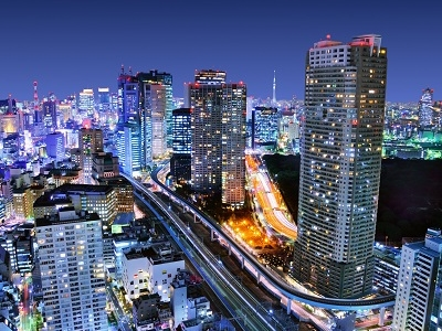 Dense Buildings In Minato Ku Tokyo