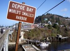 Depoe Bay Entrance Sign