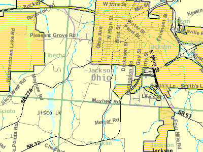 Detailed Map Of Jackson