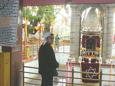 Devotee At The Temple