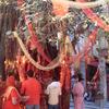 Devotees Tie Red Crimson Threads On Making A Wish