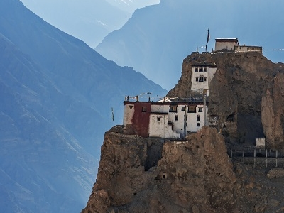 Dhankar Monastery In Spiti Valley - Himachal Pradesh India