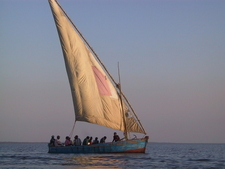 Dhow Ferrying Passengers From Inhambane To Maxixe