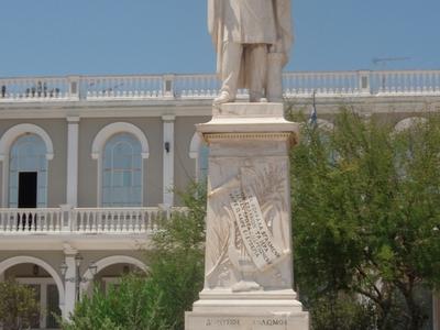Dionysios Solomos' Statue