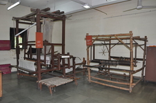 Display Of Looms In The Textiles Gallery