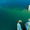 Diver Prepares To Dive The America