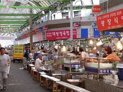 Dongdaemun Market Food Counters