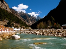 River Flowing Down The Gangotri